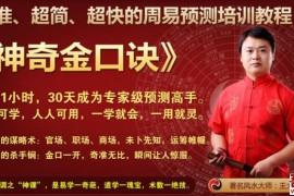 神奇金口诀-王大正老师全套视频教程_六爻教程_周易预测培训教程